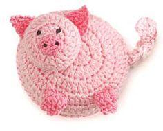 pig crochet measuring tape