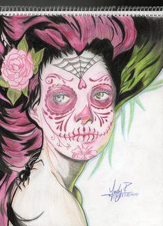 Mi Primer Sugar Skull Girl. <3 <3