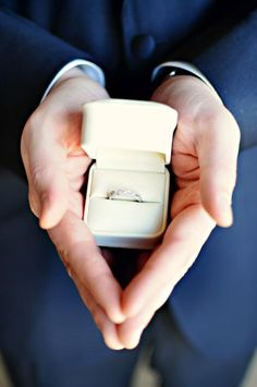 I waited 26 years before I got a diamond ring from John!  I never thought I was going to get one!  I always said I didn't want one because so many woman place such value on the size of the ring And that to me takes away the real value of it!