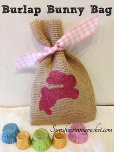 Spring Burlap Bunny Bag | SunshineInMyPocket.com
