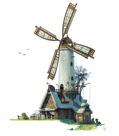 Environment Design, Le Moulin, Architecture, Great Britain, Game Design, Decoration, Decorative Bells, Statue Of Liberty, Medieval