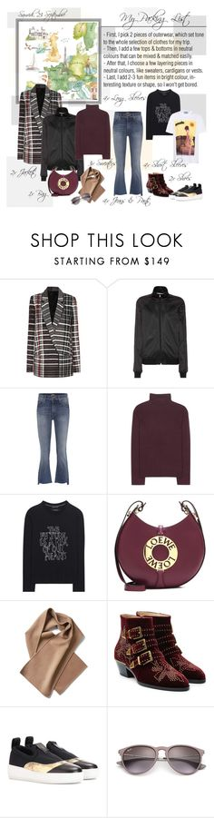 """""""Mon Style № 126 - September 23, 2017"""" by mon-style-diary ❤ liked on Polyvore featuring Haider Ackermann, Givenchy, Mother, Chloé, Each X Other, Loewe, McQ by Alexander McQueen, Ray-Ban and Prada"""