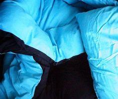 Aqua/Black Reversible Comforter - Twin XL by DORMCO. $36.94