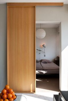 INTERIOR- The doors provide privacy and reduce noise between premises. If it comes to a smaller space, sliding doors are suitable option, because the opening and closing take up less space than con… Indoor Sliding Doors, Japanese Sliding Doors, Modern Sliding Doors, Indoor Doors, Design Innovation, Sliding Door Design, Bathroom Doors, Bathroom Closet, Internal Doors