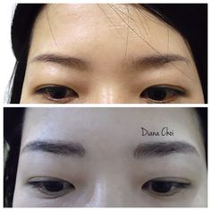 Make it even and fuller brows ❤️ hair stroke tattoo for the brows
