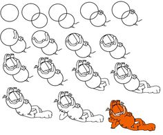 How to draw Garfield