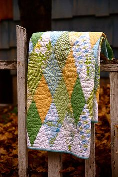 Diamond quilt top tutorial - urban patchwork