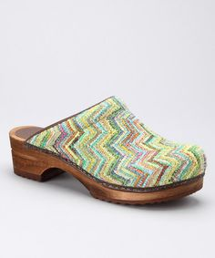 Take a look at this Lime Ofelia Clog - Women by Sanita Clogs on #zulily today!