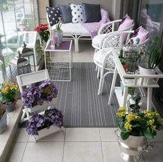 Balkon, Çiçekler, Çiçeklik, Halı