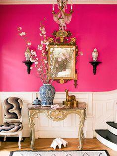 Pink walls!
