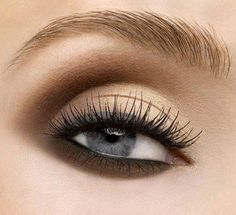 Grey Eyeliner & Brown Eyeshadow