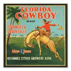 Florida Cowboy Brand Oranges & Grapefruit, Kissimmee Citrus Growers Association