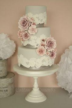 Romantic Grey Themed Wedding Ideas Grey Wedding Cake- Stay at Home Mum