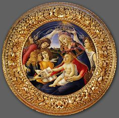 Magnificatio (Glorification of Mary) -- by Sandro Botticelli (1445-1510), 1480-81 -- Uffizi gallery, Florence, Italy