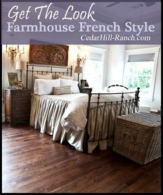I LOVE Farmhouse French Style!!  Come see how I created the look in my bedroom.