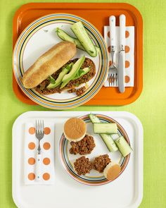 Sloppy Joes: Fresh cilantro, pickled jalapenos, and sliced avocado give Sloppy Joes a Southwestern accent.