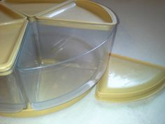 Vintage Rubbermaid 5 Wedge Carousel Canister by SavvyVintageFinds, $18.95