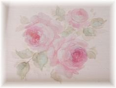 rose painted tray