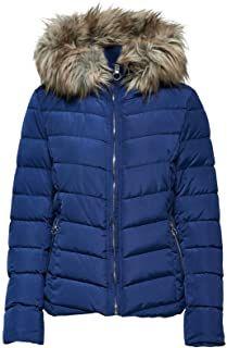 Only Damen Steppmantel mit Kapuze Winterjacke Damenjacke Kapuzenjacke Jacke