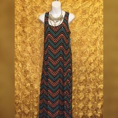 One size maxi Maxi dress One size fits most  Stretch  Tribal print  Nwt Dresses Maxi