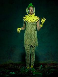 Martha Stewart Lagoon Lady Costume (using fishnets and dark green cream makeup or eyeshadow)