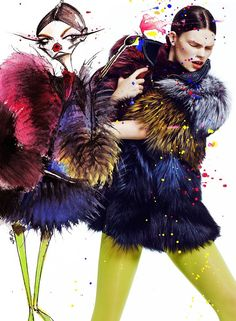 Double Double: Kelly Mittendorf By Chris Nicholls For Fashion Canada November 2014 #fashion #illustration