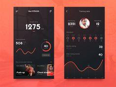 Sport Tracking App by suman #Design Popular #Dribbble #shots