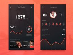Sport Tracking App by suman #Design Popular #Dribbble #shots