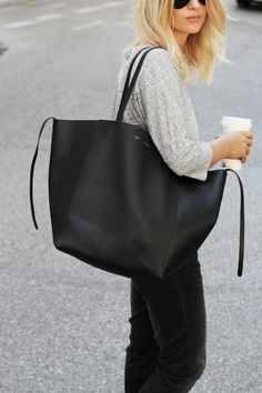 celine black phantom large tote