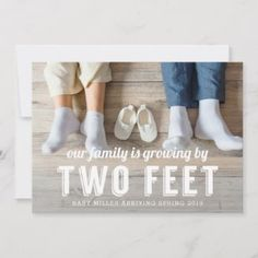 Shop Growing By Two Feet Pregnancy Announcement created by RedwoodAndVine. Personalize it with photos & text or purchase as is! Happy Pregnancy, Pregnancy Humor, Pregnancy Test, Ectopic Pregnancy, Pregnancy Blogs, Pregnancy Cartoon, Pregnancy Pilates, Pregnancy Ultrasound, Pregnancy Journal