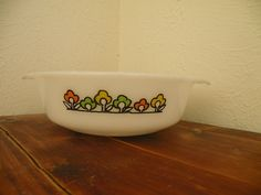 #Vtg #FireKing #AnchorHocking #Summerfield 2 Handle Casserole Baking Dish EXC #Vintage