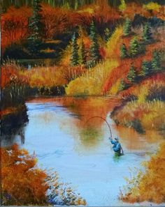 Fall Fish On by Bill Althoff