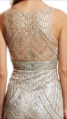 SUE WONG 1920's GATSBY Champagne Silver Beaded Sequin Evening Bridal Dress 14 #SUEWONG #GATSBY #Cocktail