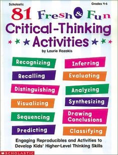 critical thinking and reading activities Critical reading worksheet omplete before reading bibliographic details previewing what is your overall critical assessment of the author's treatment of.