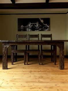 Ashburnham Sleeper Wood Dining Table ~ Love this!