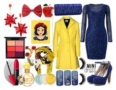"""Princess Snow White"" by quinn-avina ❤ liked on Polyvore featuring Dasein, Phase Eight, Moschino Cheap & Chic, MANGO, Kate Spade, Revlon, MAC Cosmetics, Marc Jacobs, Clinique and Forever 21"