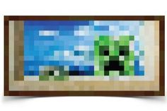 Minecraft Papercraft All of the paintings Minecraft Posters, Minecraft Blocks, Minecraft Art, Minecraft Templates, Minecraft Bedroom, Painting Minecraft, Fun Crafts, Paper Crafts, Minecraft Wallpaper