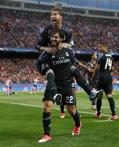 Isco, Sergio Ramos. Real Madrid