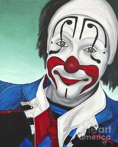 Billy Ballantine Clown 24 X 30 X 1.5 $936.00 by Patty Sue O'Hair - Vicknair Artist