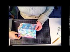Easy and Fun - Perfect use for your stack of Gelli prints! Gelli Print Chain Stitch Notebook Video Tutorial!
