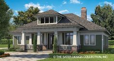 Sater Design's Glenfield House Plan l Sater Design Collection Home Plans Design Home Plans, Custom Home Plans, House Plans One Story, Story House, Farmhouse Plans, Modern Farmhouse, Farmhouse Style, Future House, Craftsman Style House Plans