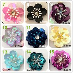 to Crystal Sequins Beaded Colorful Flower Applique cloth DIY Brooch badge Craft decorative Party cloth hair bag accessory supply Bead Embroidery Tutorial, Bead Embroidery Patterns, Bead Embroidery Jewelry, Hand Embroidery Designs, Beaded Embroidery, Hand Embroidery Dress, Couture Embroidery, Bead Jewellery, Beaded Jewelry