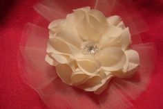 Ivory Flower Pin by bellamariacreations on Etsy, $28.00