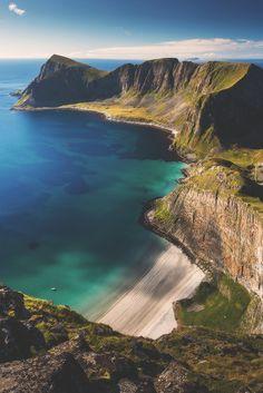 Beautiful view in Lofoten, Norway