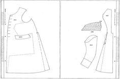 1810-tal, rock. Försöker förstå hur ett mönster till en rock är uppbyggt. Pattern, coat, great coat.
