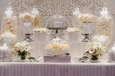 """ALL WHITE WEDDING"" SWEETS TABLE INSPIRATION----> - Project Wedding Forums"