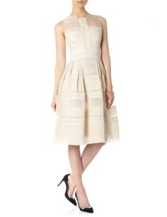 Oyster Pleats And Lace Dress | Temperley London | Avenue32