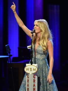 Singer Carrie Underwood performs at the Grand Ole Opry 90th Birthday Bash in Nashville.  John Shearer, Getty Images for Schmidt Relations