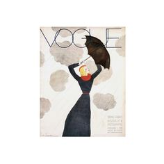 Vogue Cover - February 1933 - Umbrella Weather Regular Giclee Print ($95) ❤ liked on Polyvore featuring home, home decor, wall art, artists, giclee poster and giclee wall art