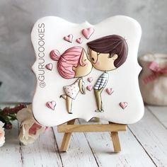 Fancy Cookies, Cute Cookies, Cupcake Cookies, Wedding Cookies, Wedding Cake Toppers, Valentines Day Cookies, Christmas Cookies, Torte Cake, Cookie Tutorials